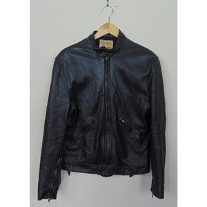 VTG DeerWear Mens 42 Leather Motorcycle Jacket